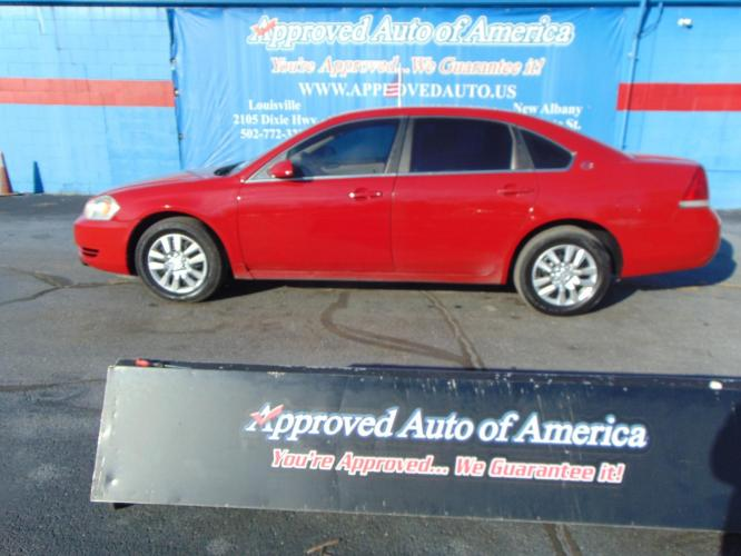 2008 Red Chevrolet Impala (2G1WB58K281) with an V6 Flex Fuel 3.5 Liter engine, Automatic, 4-Spd w/Overdrive transmission, located at 2105 Dixie Hwy, Louisville, KY, 40210, (502) 772-3333, 38.221058, -85.792671 - Photo #0