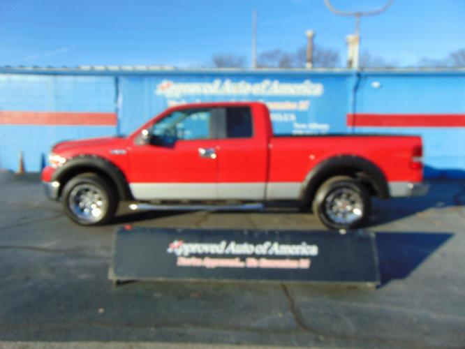2007 Red Ford F150 Super Cab (1FTPX12V17F) with an V8 5.4 Liter engine, Automatic transmission, located at 2105 Dixie Hwy, Louisville, KY, 40210, (502) 772-3333, 38.221058, -85.792671 - Photo #0